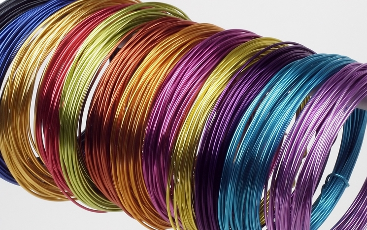 Aluminium wire plain and decorative