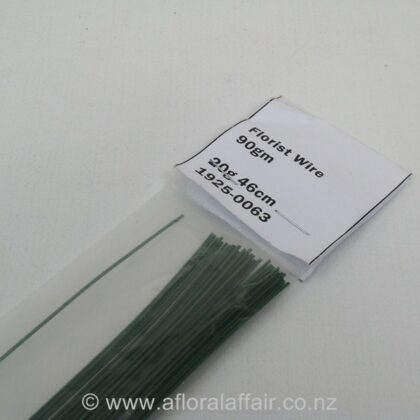 Painted Florist Wire 20gx46cm 100gm Dk Green