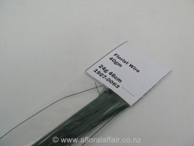 Painted Florist Wire 24gx46cm 100gm Dk Green