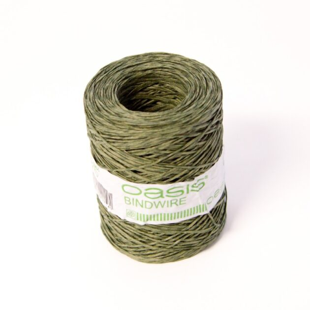 Oasis Bind Wire Roll Natural 0.4mmx205m Green