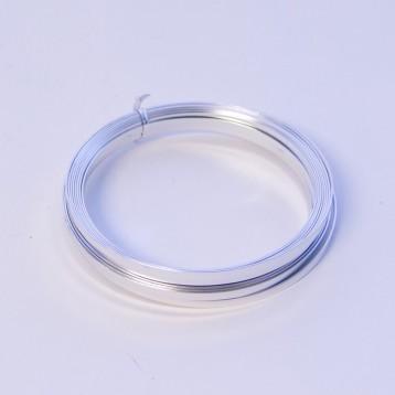 Flat Aluminium Wire - Silver 1mm x 5mm x 100g