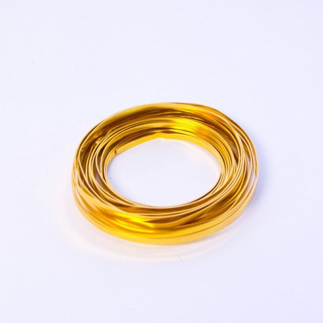 Flat Aluminium Wire - Gold 1mm x 5mm x 100g