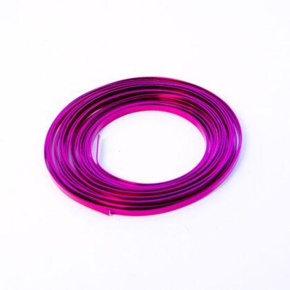 Flat Aluminium Wire - soft Pink 1mm x 5mm x 100g