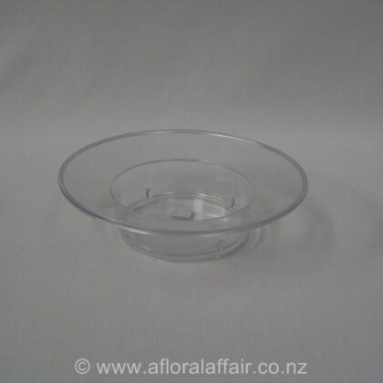 Clear Plastic Rampside Bowl 19diax5cm h Clear