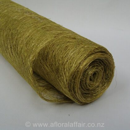 Abaca Fibre Roll with Glitter L5m x W60cm Mid Green