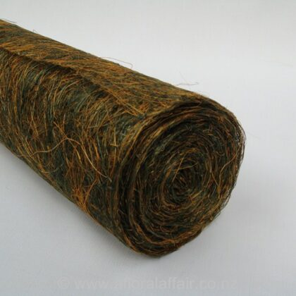 "Abaca Scrunch Mat Roll 18""x10yd Green/Yellow"