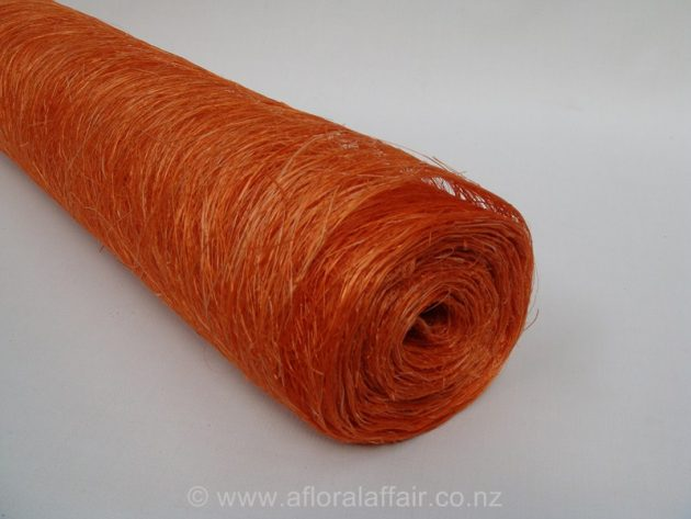 Abaca Scrunch Mat Roll 62cm x 5m Orange