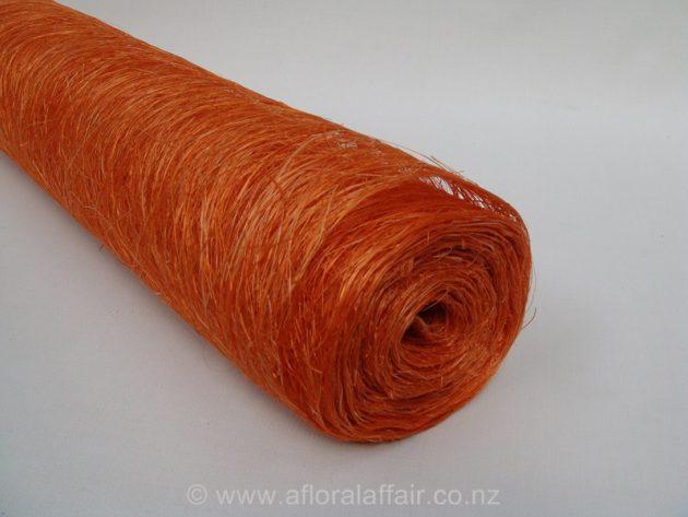Abaca Scrunch Mat Roll 62cm x 5m Orange