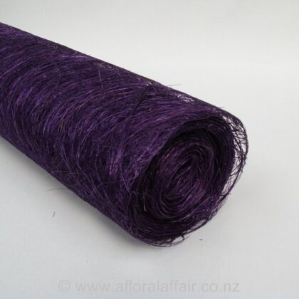 Abaca Scrunch Mat Roll 62cm x 5m Purple