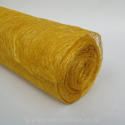 Abaca Scrunch Mat Roll 62cm x 5m Yellow