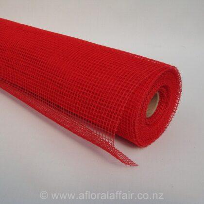 Natural Jute Mesh 53cm x 9m Red