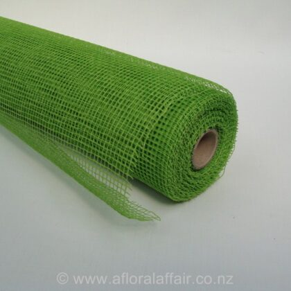 Natural Jute Mesh 53cmx9m - Lime Green
