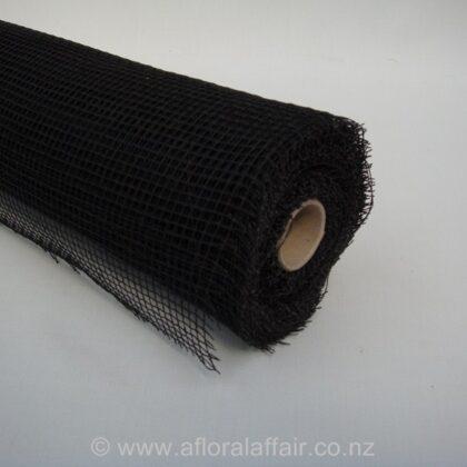 Natural Jute Mesh 53cmx9m -Black