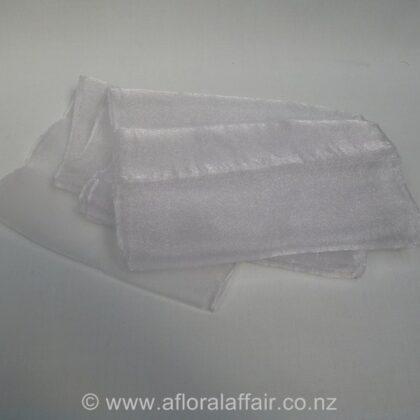 Organza Sashes Silver x 10