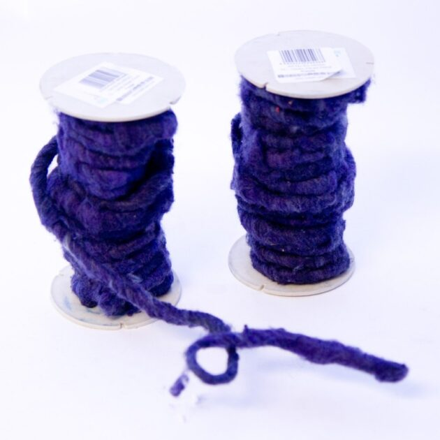 Oasis wired wool 5-7mm x 10m Purple