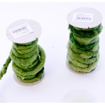 Oasis wired wool 5-7mm x 10m Moss
