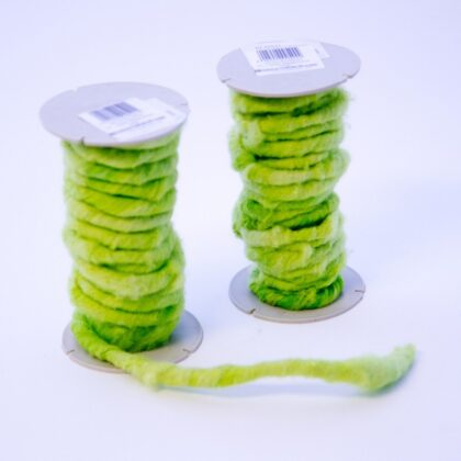 Oasis wired wool 5-7mm x 10m Lime Green