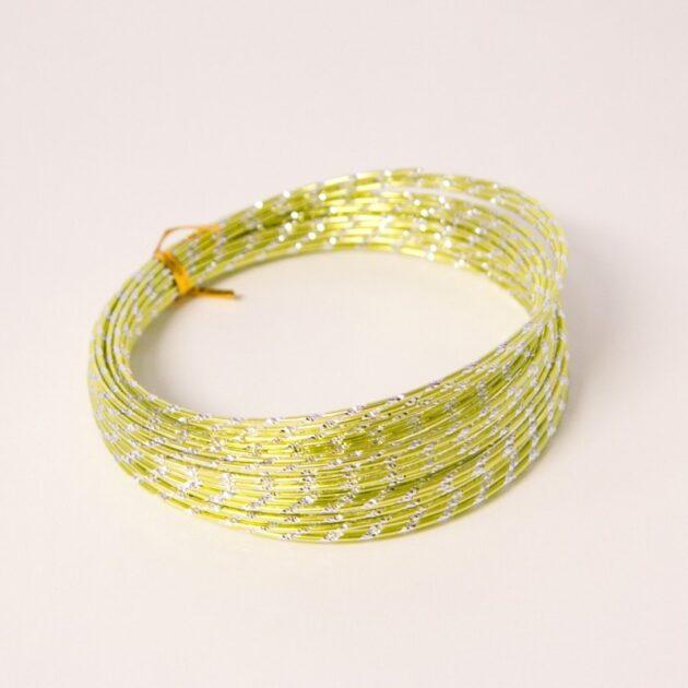 Diamond Sensation wire Apple Green 2mm x 10m