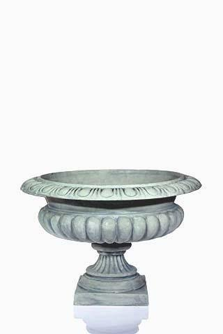 Urn Silver Pewter Large round Squat