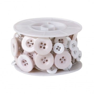 Button Wire White