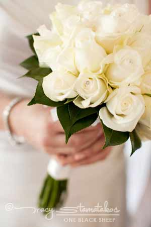 Bouquet of White Roses | Wedding Florist Testimonials - A Floral Affair by Francine Thomas